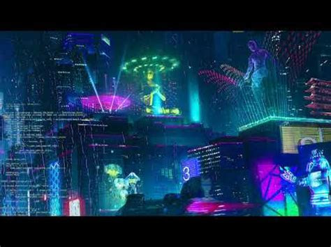 animated looping cyberpunk zoombackgrounds