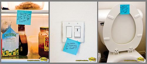 Post-It's three-roll ad campaign