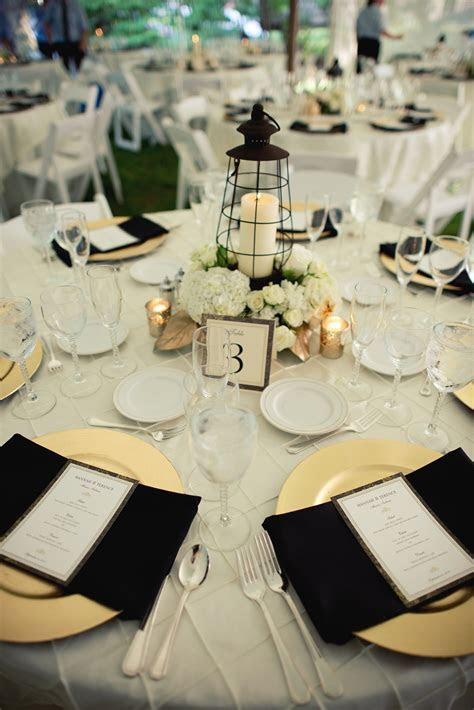 Lantern Centerpieces   Ivory Gold Black Wedding   Wedding