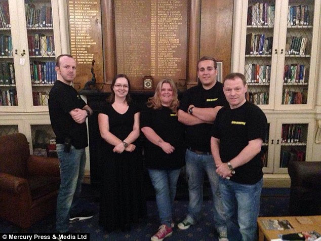 On the case: The team at Sefton Paranormal Investigators, pictured, claim to have made contact with Richard Caton, the Lord Mayor of Liverpool from 1907-1908 - who died in 1926