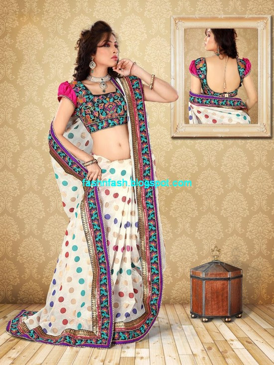 Saree-Designs-Lehanga-Choli-Style-Embroidered-Bridal-Party-Wear-Sari-New-Fashion-Clothes-1
