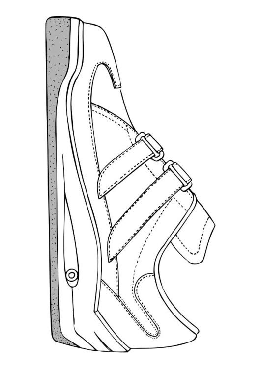 Coloriage Chaussure De Sport Img 17383