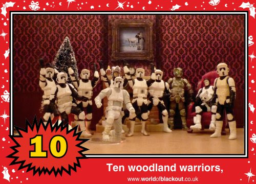 On the eleventh Wookiee Life Day, the Dark Side gave to me: Ten woodland warriors...