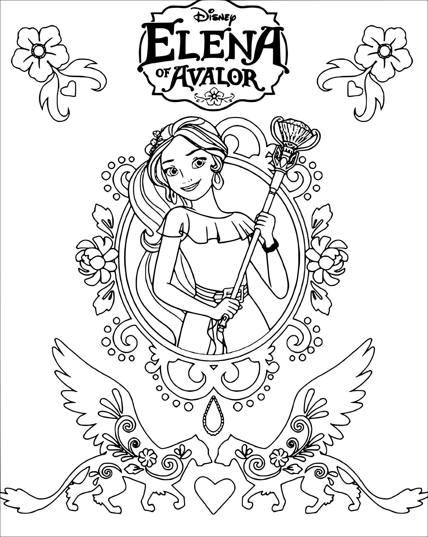 Coloriage Elena Davalor De Disney à Imprimer Sur Coloriage De Com