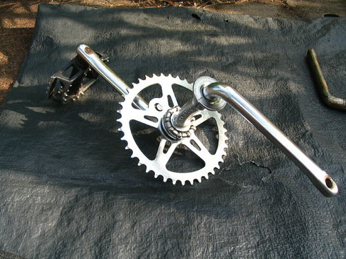 Crank, sproket and bearings