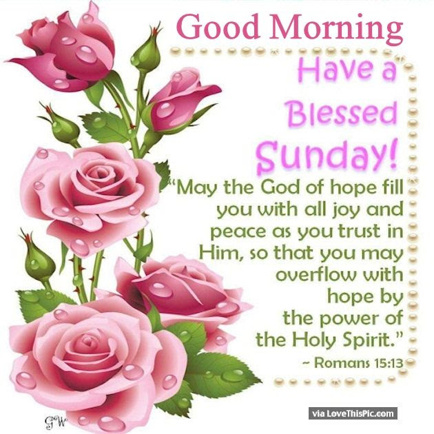Good Morning Have A Blessed Sunday Religious Quote Pictures Photos