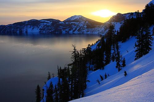 IMG_1889 Winter Sunrise, Crater Lake National Park