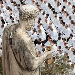 Preti in piazza San Pietro