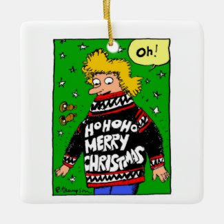 May all your Christmas sweaters be warm & ugly Square Ornament