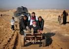 45.000 iraquíes huyen en diez días de los combates en el este de Mosul