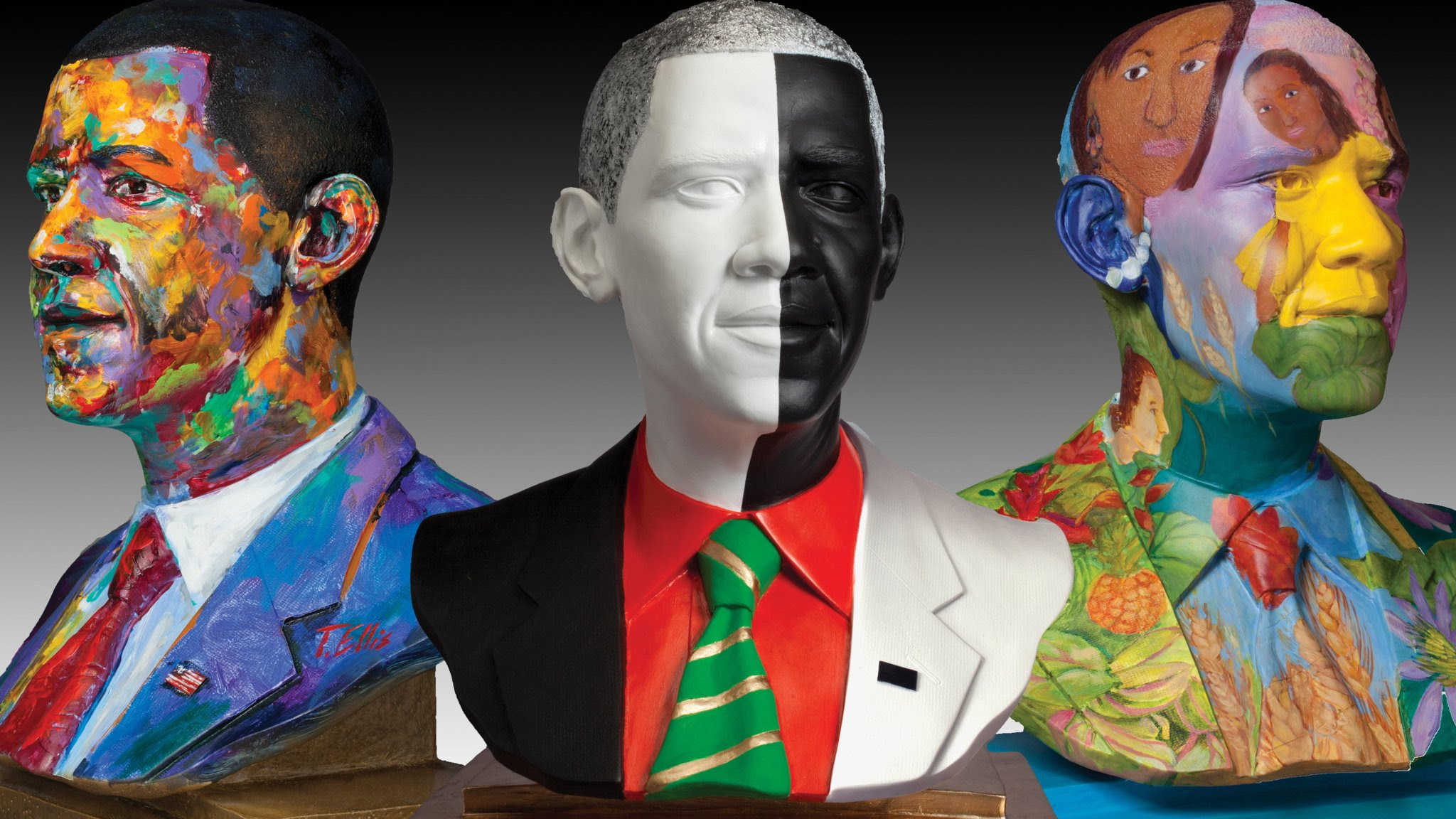 Travelling show of Obama busts arrive in Miami
