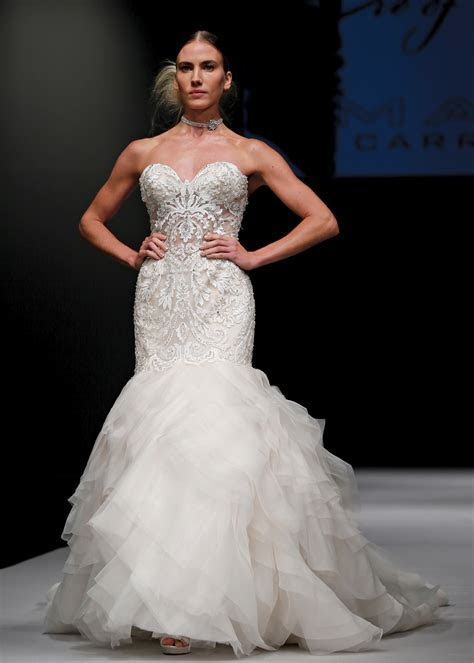 Eve of Milady Princess Strapless Trumpet Wedding Gown