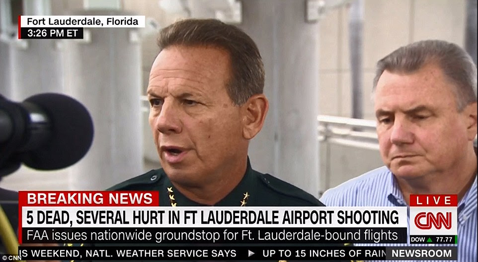 Broward County Sheriff Scott Israel spoke to the media about 3:30pm and provided more details on the incident