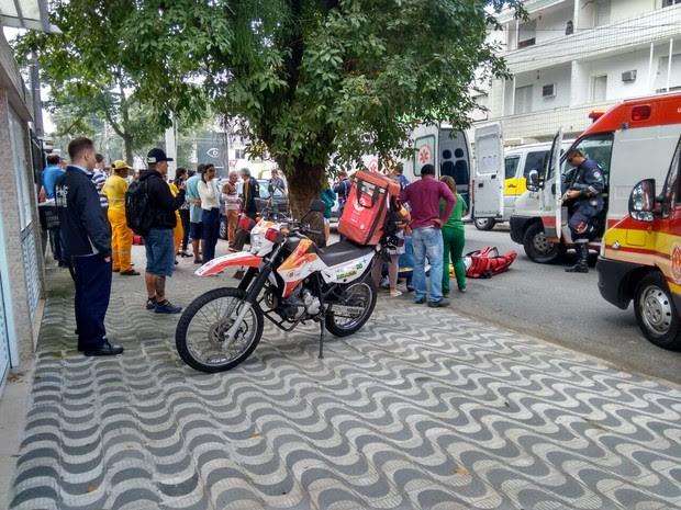 Acidente aconteceu em Santos (Foto: G1)