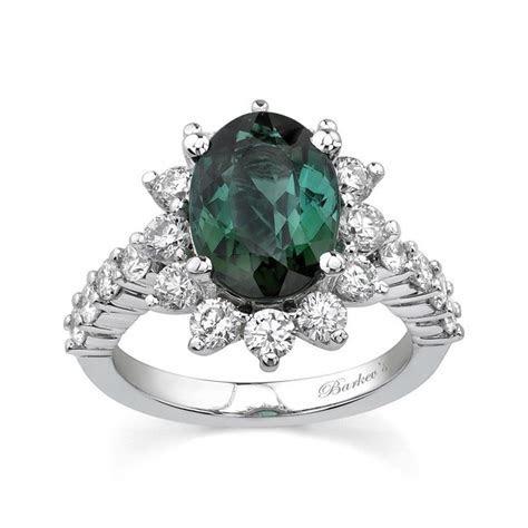 Barkev's White Gold Green Tourmaline Ring   7257L   Barkev's