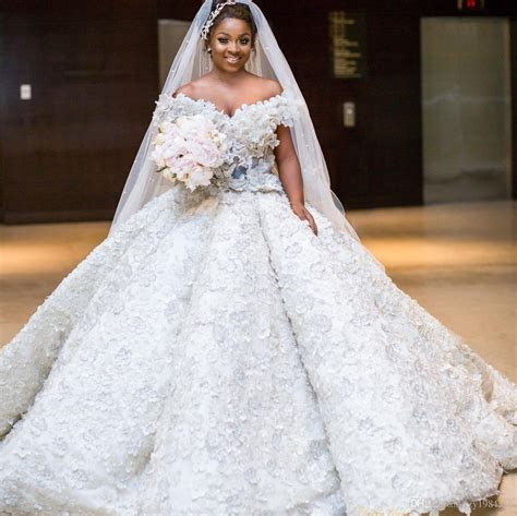 Gorgeous South African Princess Wedding Gown Off Shoulder