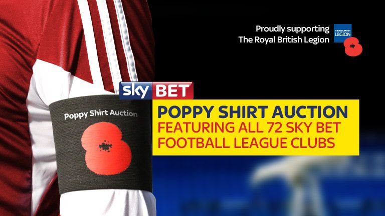 Sky Bet to Hold Another Poppy Shirt Auction