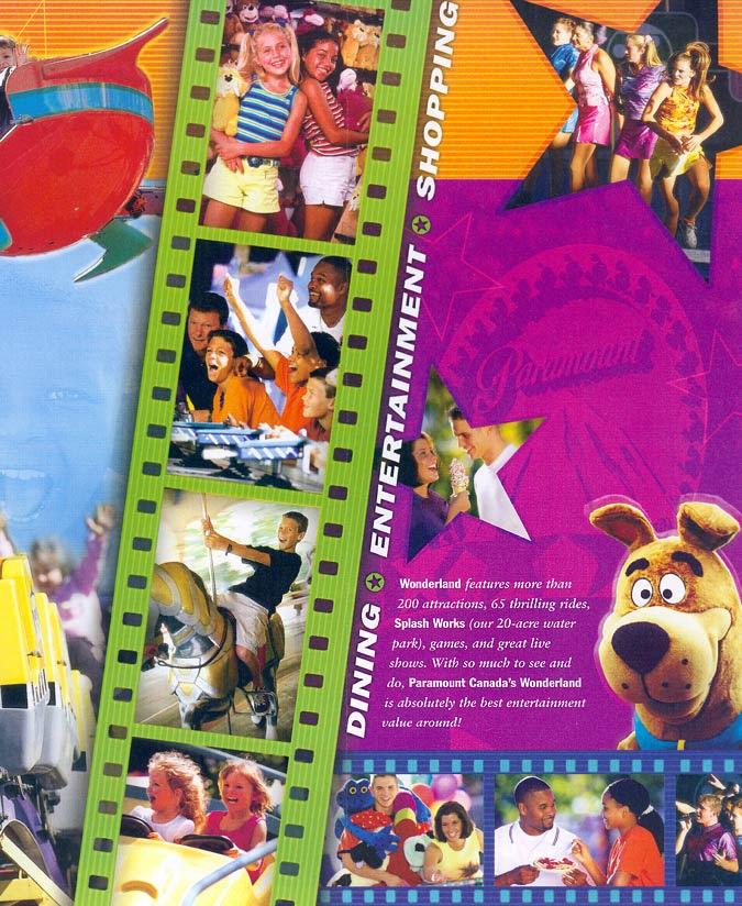 Theme Park Brochures Paramounts Canadas Wonderland