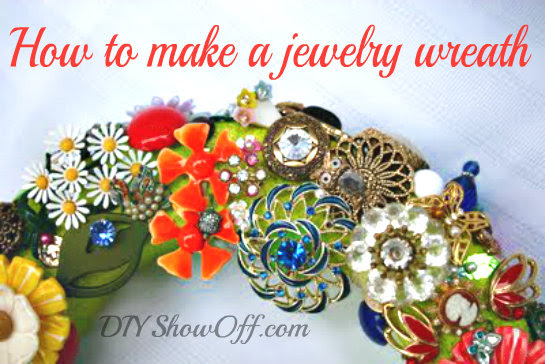 Diy Show Off Brooch Wreath Tutorialdiy Show Off Diy Decorating