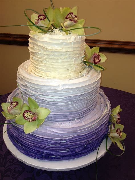 purple ombre cake in buttercream   Blondie's: Wedding