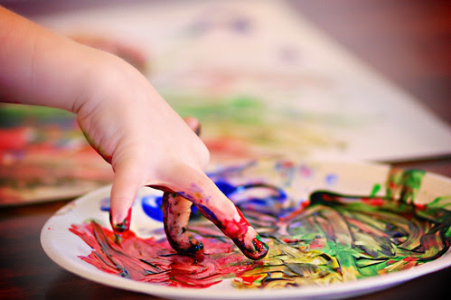 Finger Painting - The Process