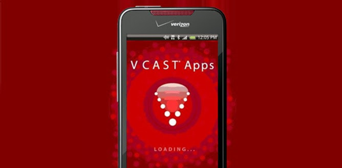 Phone showing the VCAST app loading