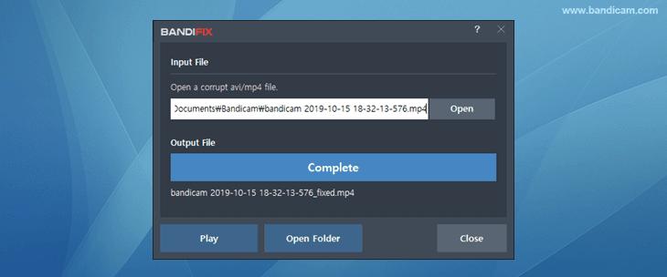 Bandifix - free broken avi file recovery program