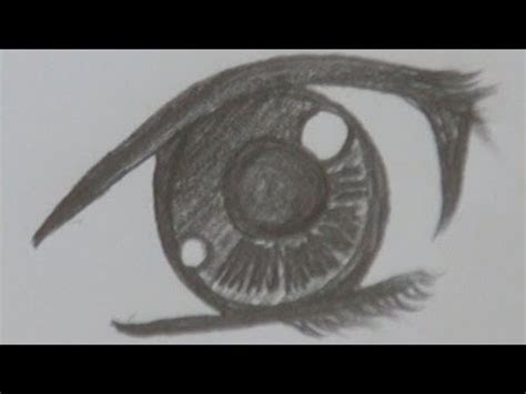 drawing anime pretty girls eye pencil drawing