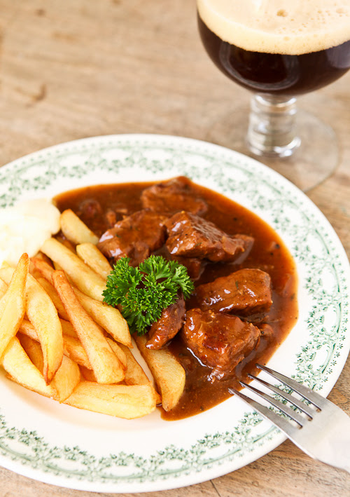 Belgian beef beer stew and home made fries