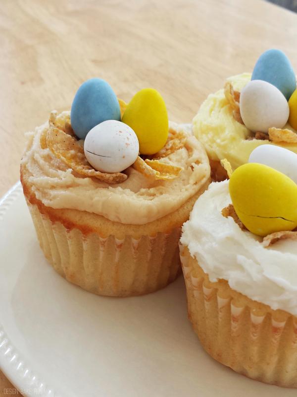 Easter Cupcakes! via design. bake. run.