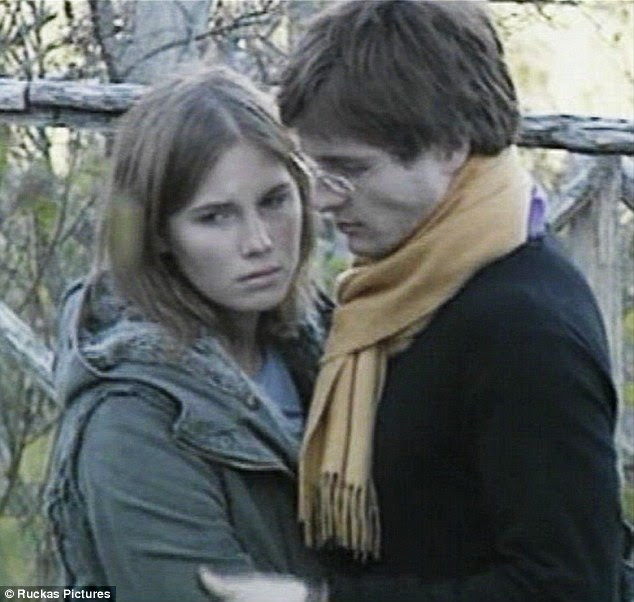 Sollecito (right) has seemingly abandoned all loyalty to Knox (left) with his bid to distance himself from her