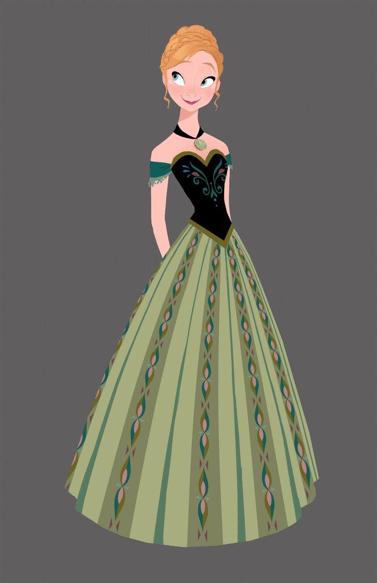 ドレス姿のアナのイラスト アナと雪の女王公式の2dイラストが