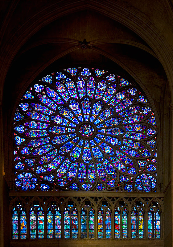 Stained glass window from Notre Dame de Paris