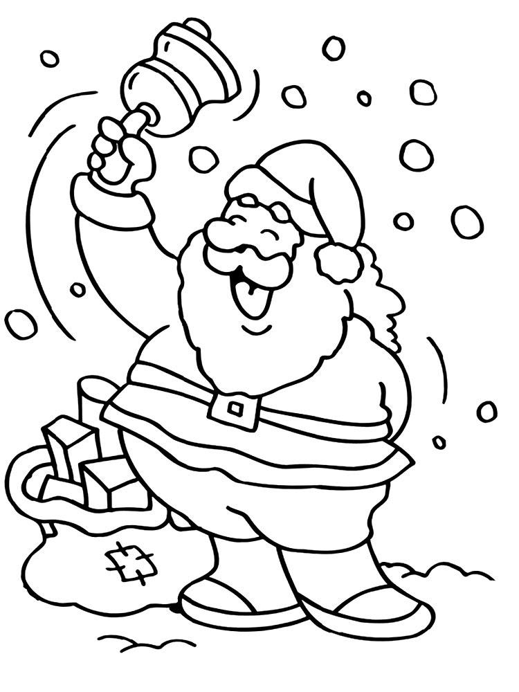Dibujos Para Colorear Santa Claus Para Niñas Y Niños