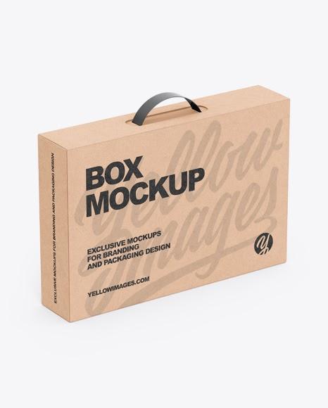 Download Mockup Box Kraft Mockup Box Gift PSD Mockup Templates
