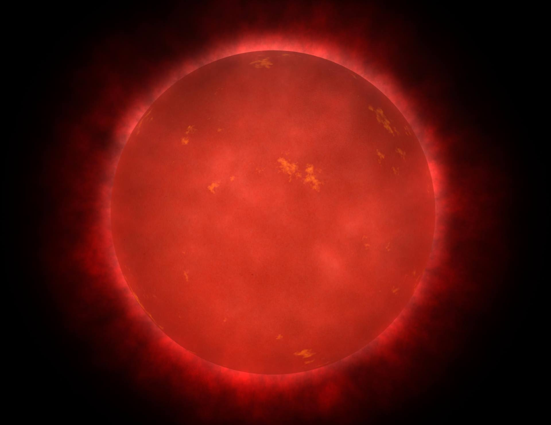 Artist's impression of a red giant star. Credit:NASA/ Walt Feimer