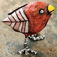 Bird made from papier-mache