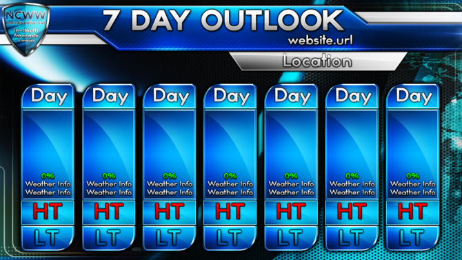 7-day Weather Forecast Template Related Keywords & Suggestions - 7 ...