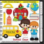 School Days Layered Templates - CU