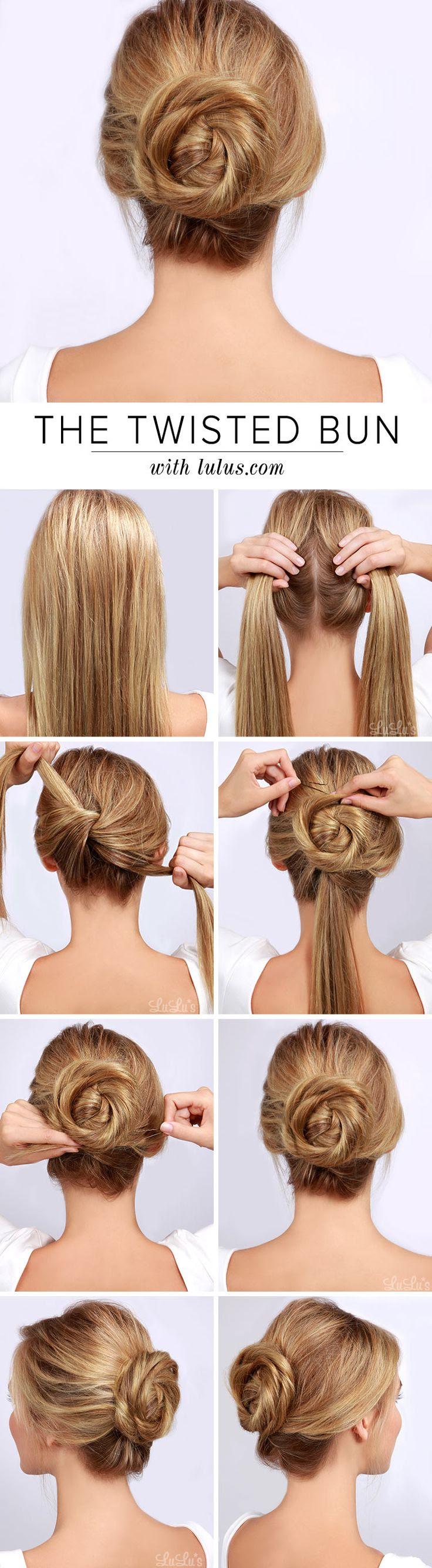 LuLu*s How-To: Twisted Bun Hair Tutorial - Lulus.com Fashion Blog