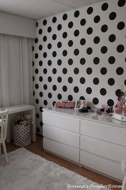 Polka dot wallpaper Hanna's PowderRoom Blog