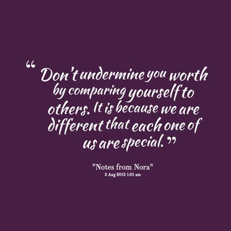 Inspirational Quotes Not Comparing Yourself Others