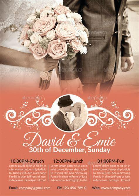 14  PSD Wedding Flyer Templates   Editable PSD, AI Format