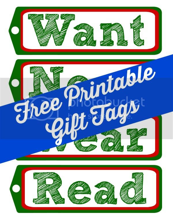 Free Printable Gift Tags via @mvemother