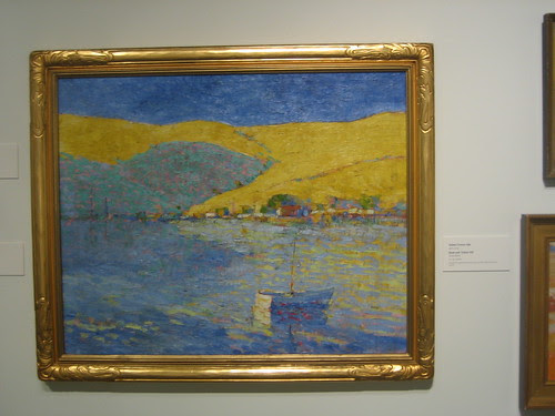 Boat and Yellow Hill, c. 1920s, Oil on Canvas, Selden Connor Gile, Oakland Museum of California _ 9588
