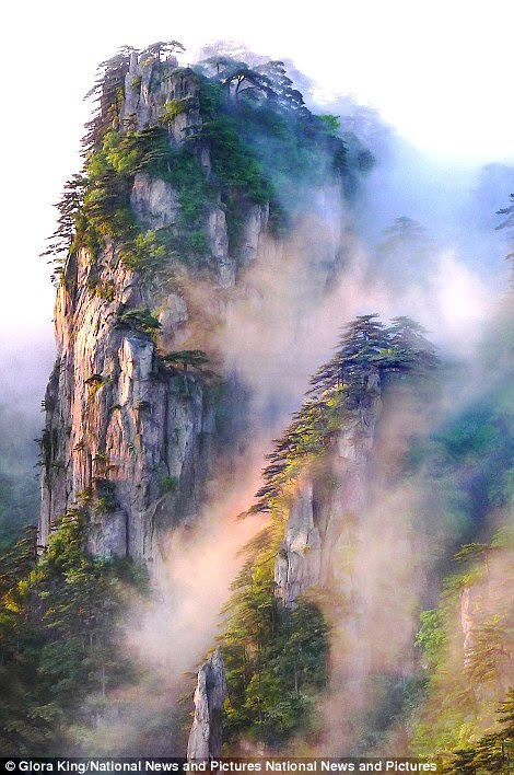 Gloria King's Sunrise on Misty Mountains in China
