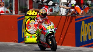 rossi on misano podium
