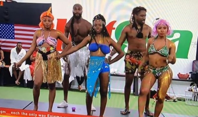 Nigerians React As #BBNaija housemate, Mercy Plays Cardi B, Tensions Viewers By Putting Her Bare Bum On Display (Watch Video)