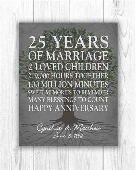 25th Anniversary Gift, 25 Year Anniversary Gift 25th