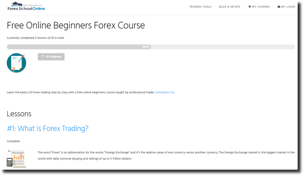 Forex Online School System No Loss